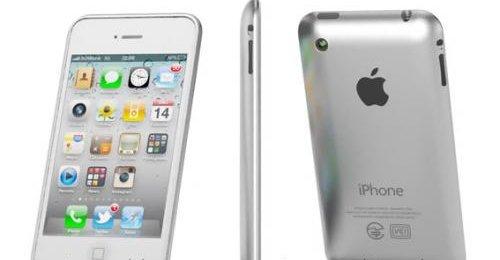 En iPhone 5-mockup. Trolig beholder iPhone 5 iPhone 4-designet, men får kjappere CPU og GPU i form av A5-brikken som er å finne i iPad 2.