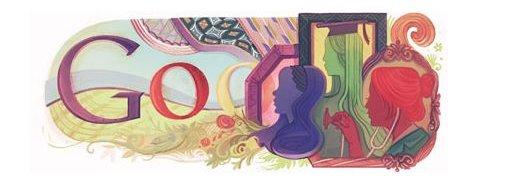 Slik ser Google ut på kvinnedagen 8. mars.
