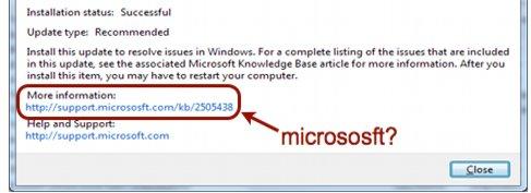 <b>FEILSTAVET:</b> Microsoft, ikke «Micrososft».