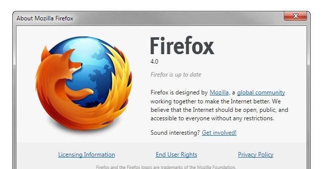 Release Candidate 1 er i skrivende stund nyeste versjon av Firefox 4. Endelig versjon ventes 22. mars.