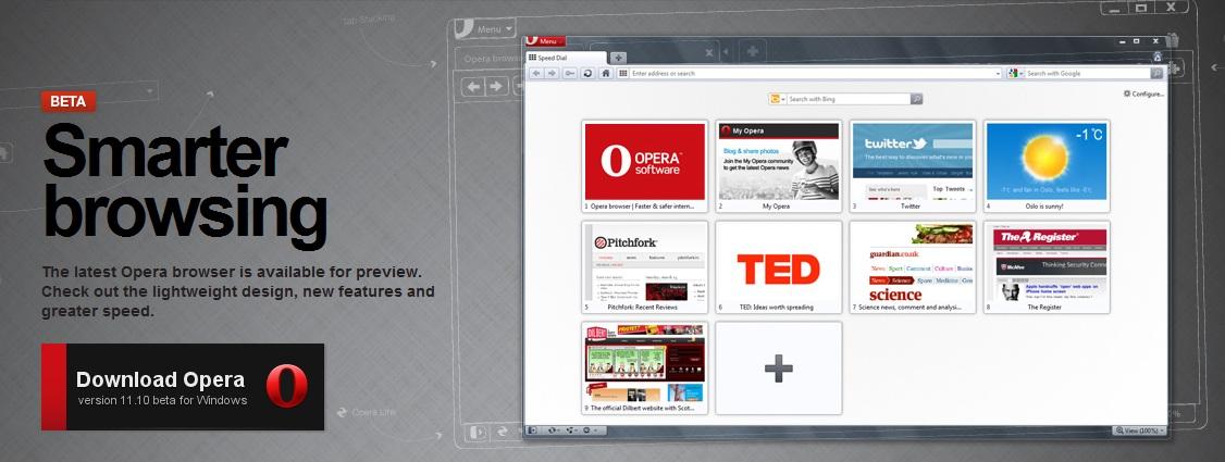 Test Opera 11.10 Beta.