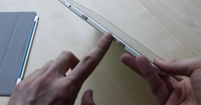 Ved å lime fire magneter på siden av iPad 1 fungerer Smart Cover overraskende bra.