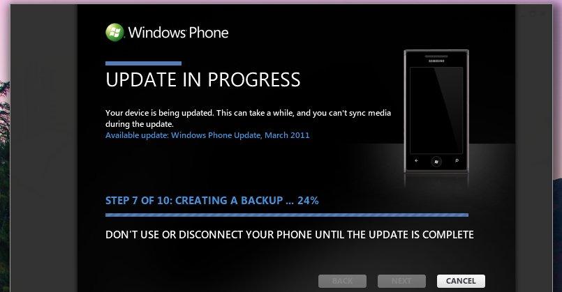 Backup-prosessen tok ganske lang tid (20 min.) med 3.4 GB med data på telefonen til undertegnende.