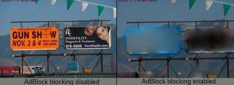 AdBlock utvides, slik at du nå også kan fjerne veiskilt og TV-reklame...