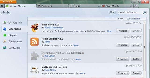 10 prosent tregere blir Firefox 4 å starte med kun en eneste utvidelse installert. Nå handler Mozilla endelig.