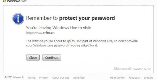 De fleste nettsider man besøker er naturlig nok ikke en del av Windows Live.