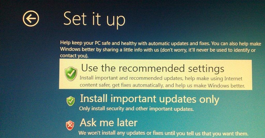 En tidlig versjon av Windows 8s installasjonsprosess.