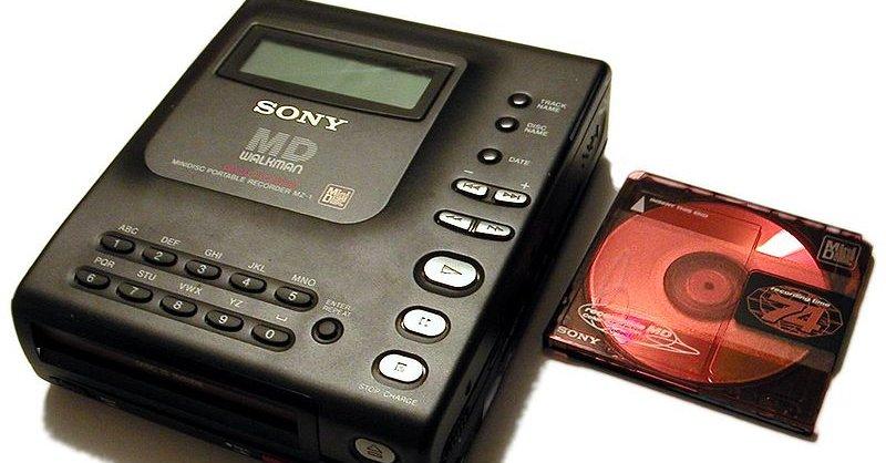 MiniDisc - ett av de mange formatene som Sony satset alt på - og tapte med.