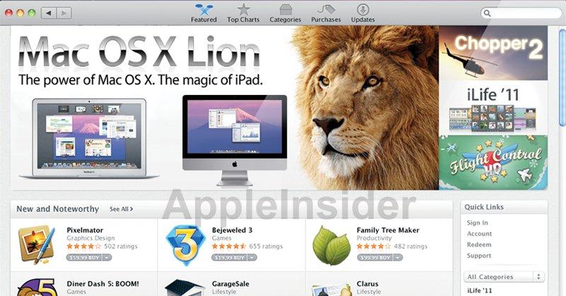 En test-versjon av Mac OS X beviser Apples foretrukne distribusjonsmetode for Lion.
