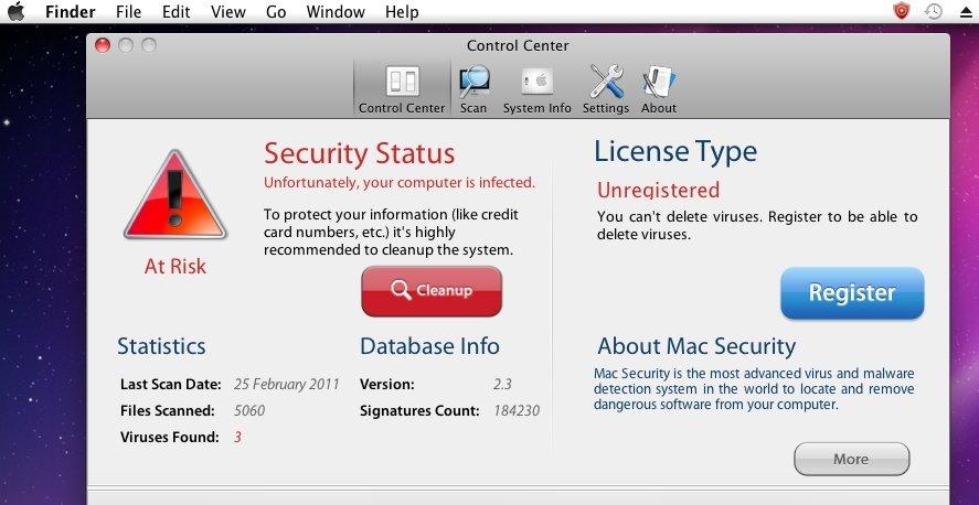 Antivirus-svindel som dette belaster nå Apples support-medarbeidere voldsomt.