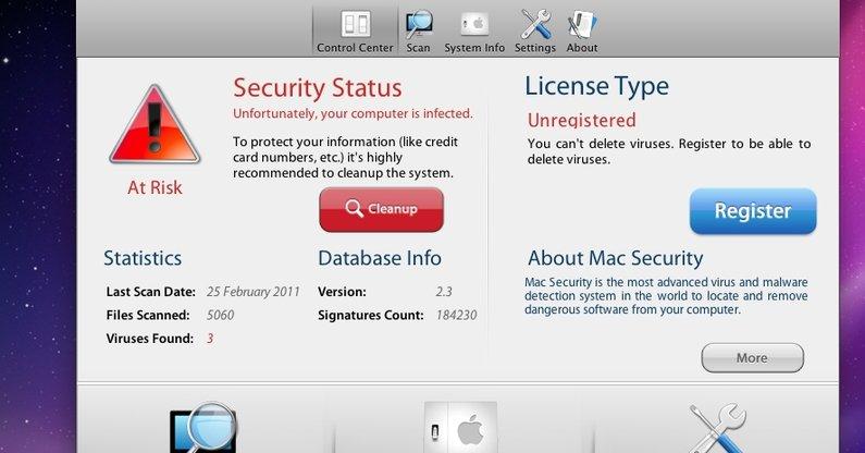 Slik ser Mac Defender ut.