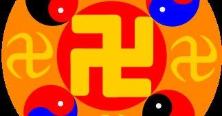 Falun Gongs logo kan minne om det nazistiske hakekorset, men har ingen forbindelse.