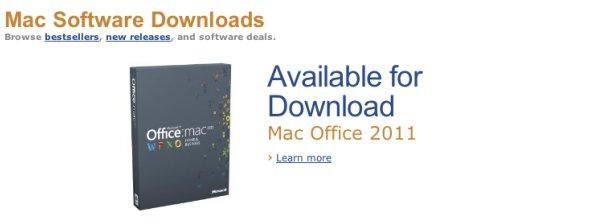 Office for Mac er blant programmene som kan lastes ned Amazons nye Mac-butikk, men ikke fra Apples egen butikk.