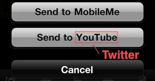 I neste versjon av iOS kan du trolig velge å sende bildene dine rett på Twitter.