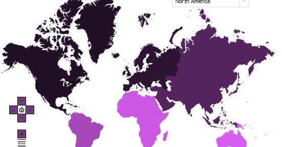Slik ser Facebooks verdenskart ut.