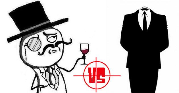 LulzSec (til venstre) er konstant i tottene på Anonymous (til høyre). Det skal vi kanskje være glade for...