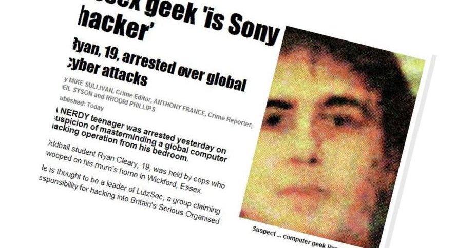 Den britiske tabloidavisa The Sun har publisert bilde av Ryan Cleary, som politiet tror er Lulz-hackeren.