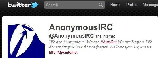 På denne Twitter-kontoen ligger det informasjon om Anonymous siste hack.