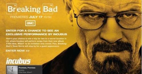 En eksklusiv billett til «Breaking Bad»-konsert med Incubus er hetest på eBay akkurat nå.