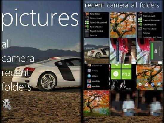 Windows Phone 7-bilde-appen i Android.