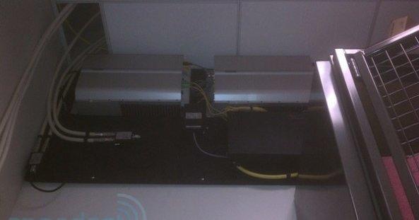 LTE-basestasjon i en Apple Store.