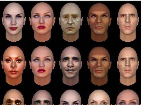 Hvor attraktiv er du? Og hva sier utseendet egentlig om deg? Det kan ny programvare hjelpe til med å avsløre. Personen midt i bildet minner for øvrig mistenkelig om Barack Obama...