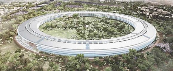 Apples kommende hovedkvarter ligner på en UFO fra populærkulturen.