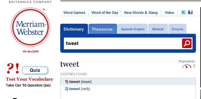 To tweet or not to tweet? Ordboka Merriam-Webster har nå svaret...