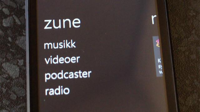 Musikk kan ikke kjøpes via Zune, men Microsoft fokuserer stort på streaming gjennom Wimp og Spotify.