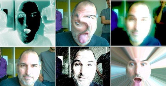 Steve Jobs leker seg i Photo Booth, 2005.