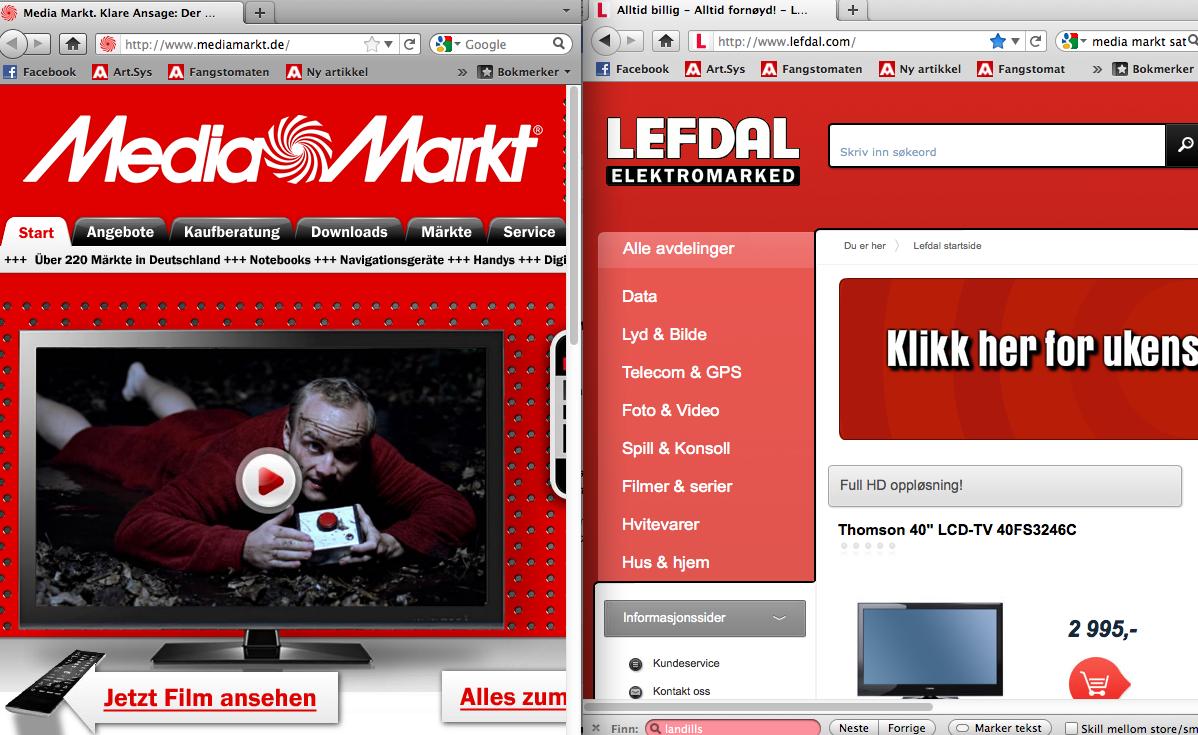 Den tyske kjeden Media Markt mener at Ledfal kopierer dem.