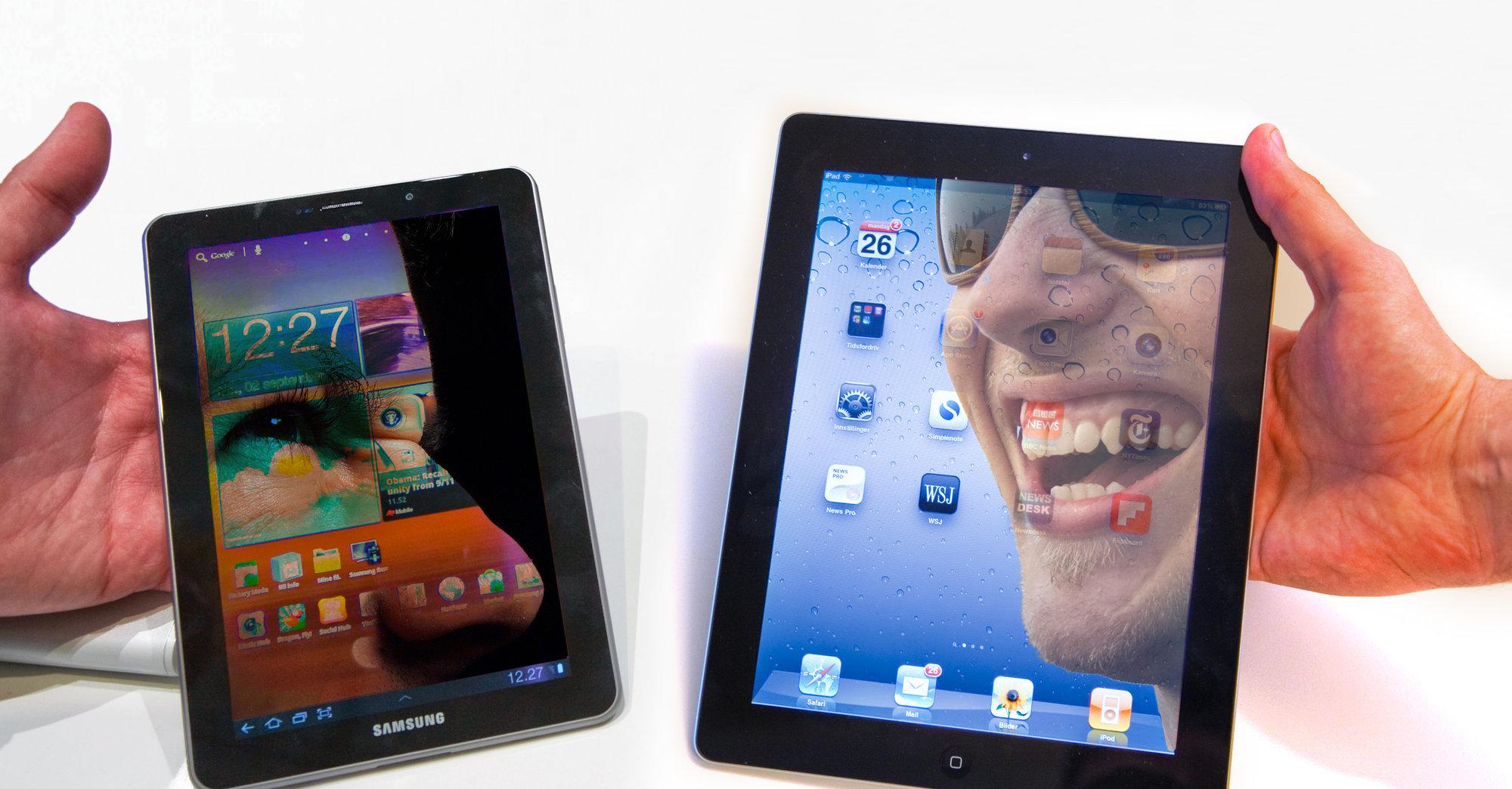 Vel er vi i krig. Men å nekte dem skjermer til iPad? Å nei, du!