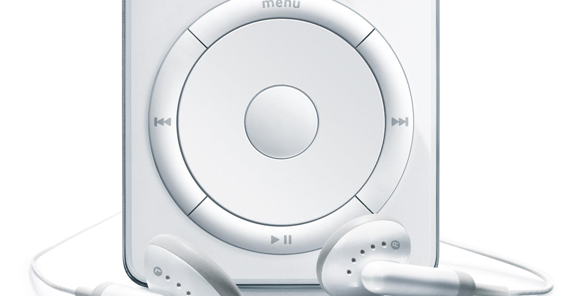 Det ikonske klikkehjulet til den aller første modellen.