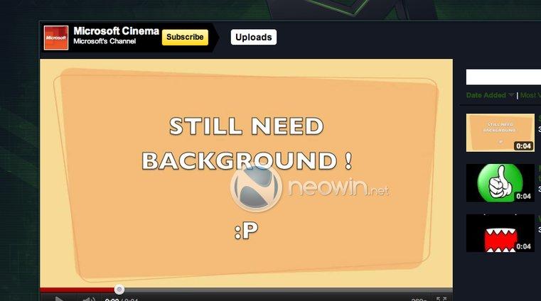 Slik så Microsofts reklamefilm på YouTube ut i natt.