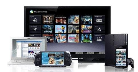 Slik ser Sony for seg sin «familie» - et konsept som skal konkurrere med Apples medie-sømløshet.