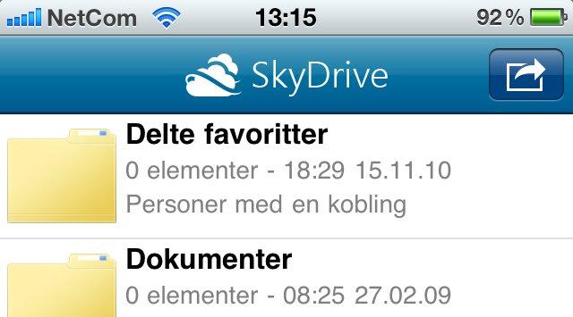 Skydrive fungerer omtrent som en ekstra disk koblet til din iPhone eller Windows Phone.