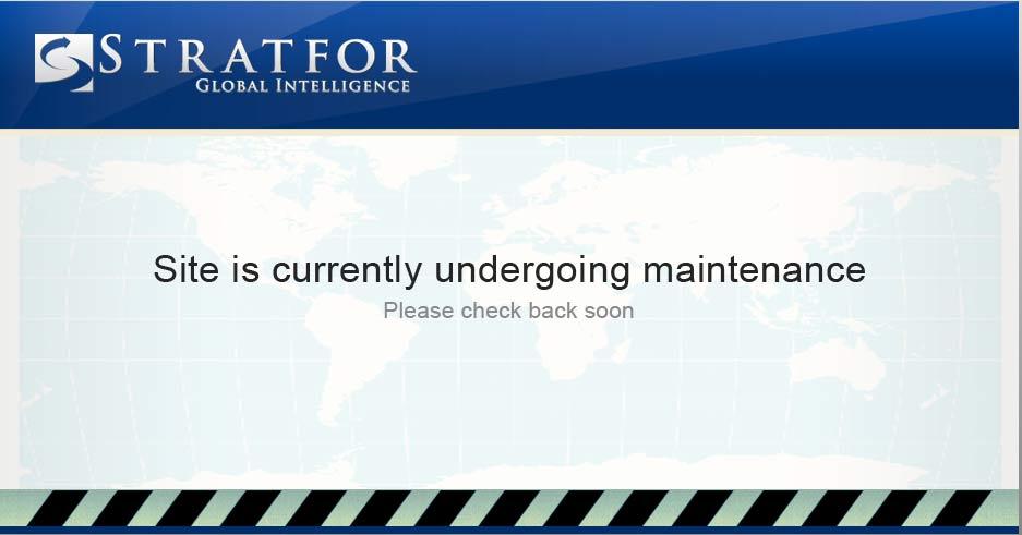 Slik ser nettsidene til sikkerhetsselskapet Stratfor ut nå i jula.