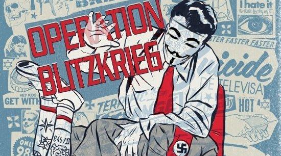 FÅR RIS PÅ RUMPA: Anonymous nye Operation Blitzkrieg avslører nynazister og deres sponsorer.