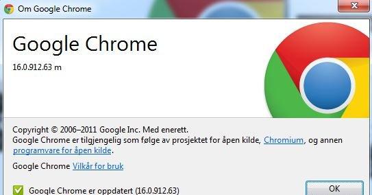 Også Chrome blir å finne i Metro-drakt.