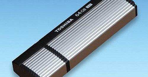 De nye USB3.-minnepinnene fra Toshiba klarer 220 Megabyte i sekundet for lesning og 94 for skriving.