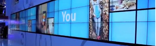 En gigantisk vegg på CES-messen viser fram hva Microsoft-grensesnittet Metro er god for.