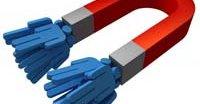 Magnet-lenker deles mellom de som laster ned innholdet og kommer ikke fra en bestemt server.