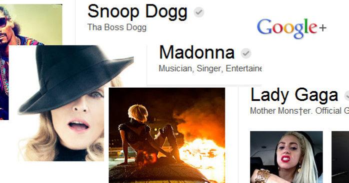 Lady Gaga slipper å hete Stefani Joanne Angelina Germanotta på Google+. Vi andre må nøye oss med Tore, Trond og Thomas...