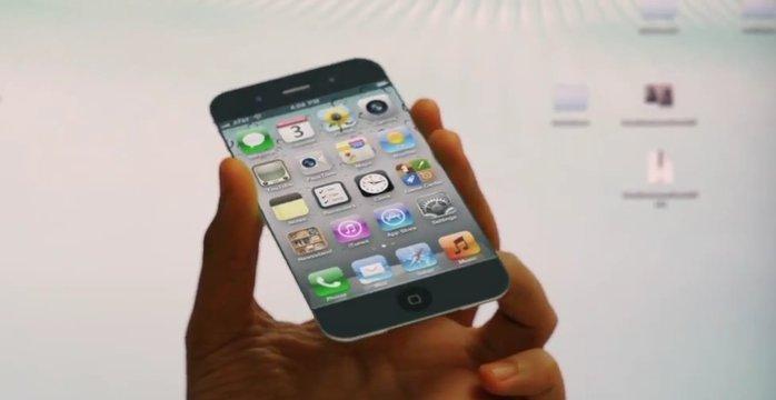 Dette er et konseptbilde. Ingen vet hvordan iPhone 5 kommer til å se ut. Men den vil etter alt å dømme bli utstyrt med en helt nye type pekeskjerm.