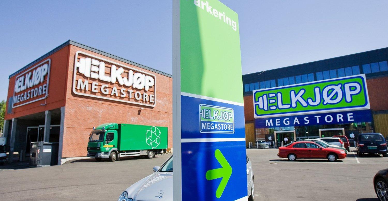 Salget av alektronikkprodukter går ned, både i verdi og volum. Tallene gjelder totalmarkedet i Norge, og ikke butikken som er vist her spesielt.