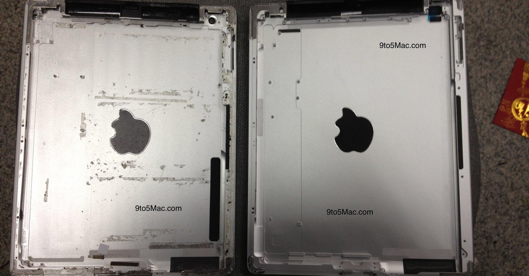 iPad 3-baksiden skal være til høyre.