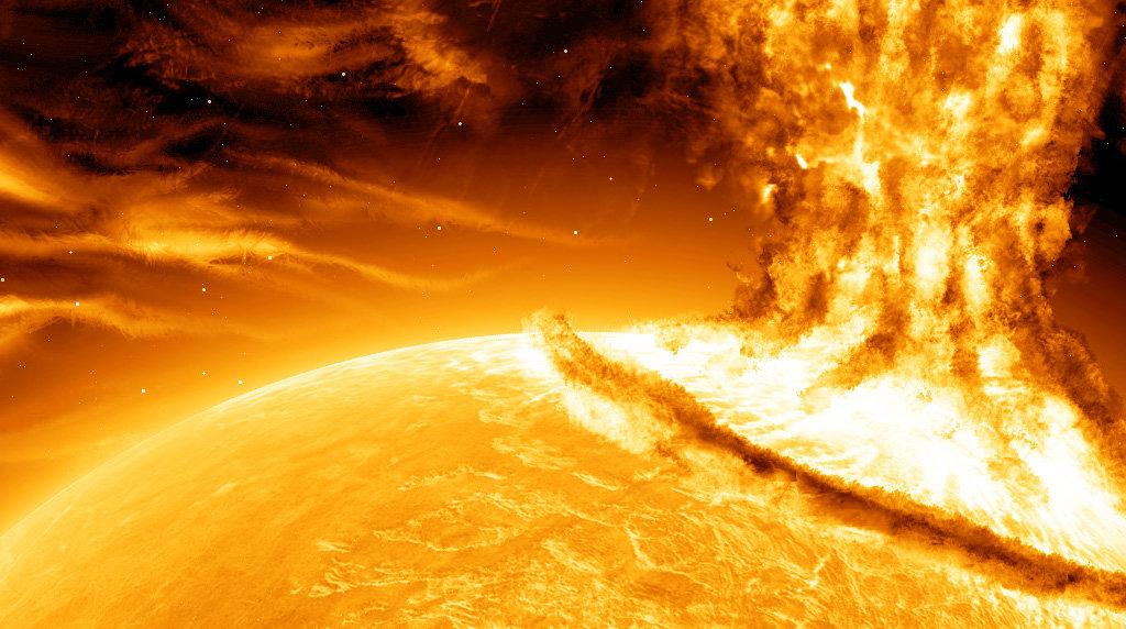 En solstorm som dette kan forårsake ett eller flere gigantiske magnetfelt. Det kan få katastrofale konsekvenser, hevder en britisk parlamentskomité.