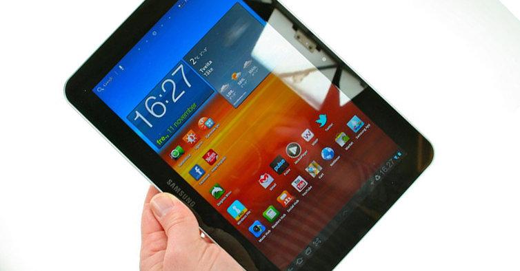 Android-baserte nettbrett tar stadig større markedsandeler fra Apple. Her Samsung Galaxy tab 8.9.