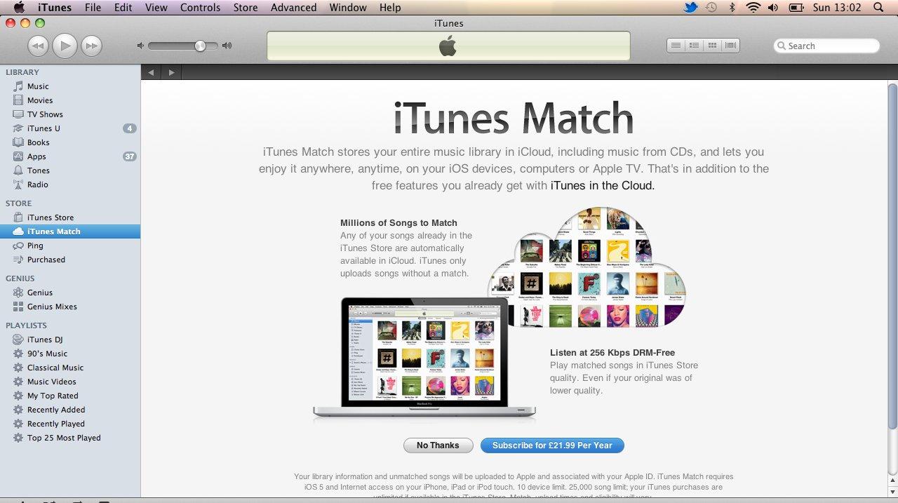 Via iTunes Match kommer all musikken din til å bli oppgradert til CD-lyd eller bedre, skriver britisk avis.