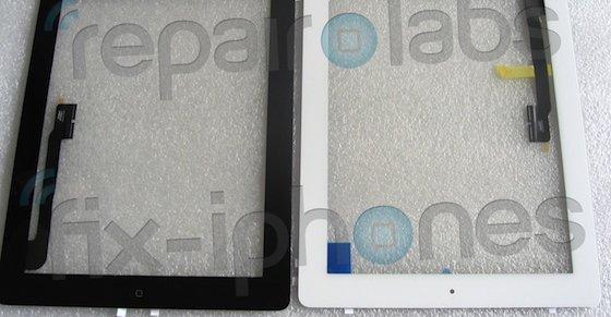 Repair Labs med bilder av det som trolig er iPad 3. Altså kommer den i både sort og hvitt og med hjem-knappen.